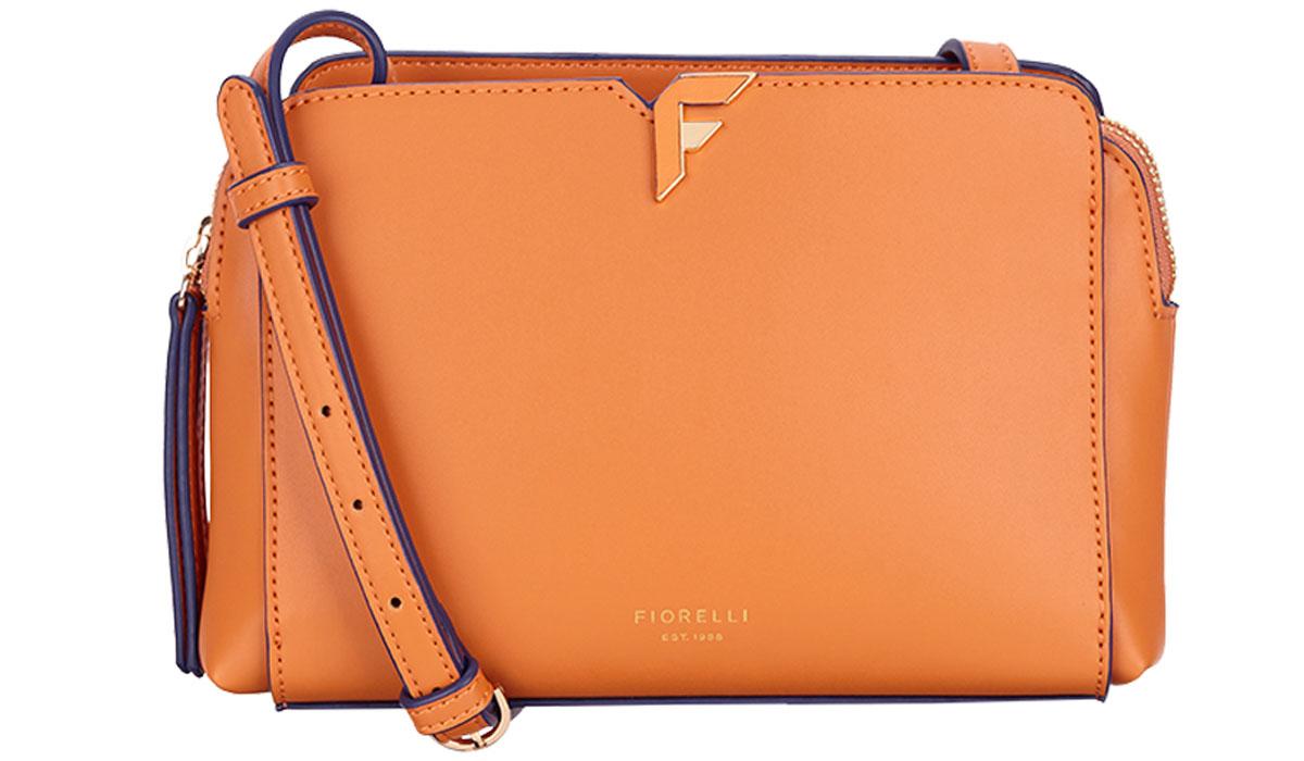 Сумка женская Fiorelli, цвет: оранжевый. 8637 FH Orange101248Элегантная женская сумка Fiorelli изготовлена из качественной искусственной кожи. Модель с двумя отделениями закрывается на молнии. На лицевой части имеется большой открытый карман. Сумка оснащена плечевым ремнем, который можно регулировать по длине.