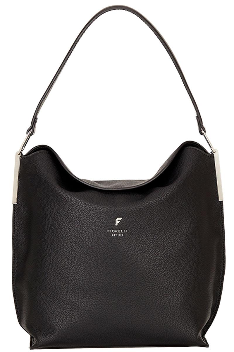 Сумка женская Fiorelli, цвет: черный. 8648 FH Black Casual71069с-2Элегантная женская сумка Fiorelli изготовлена из качественной искусственной кожи. Модель с одним отделением закрывается на магнитную кнопку. Внутри имеются дополнительные карманы. Сумка оснащена удобной ручкой.