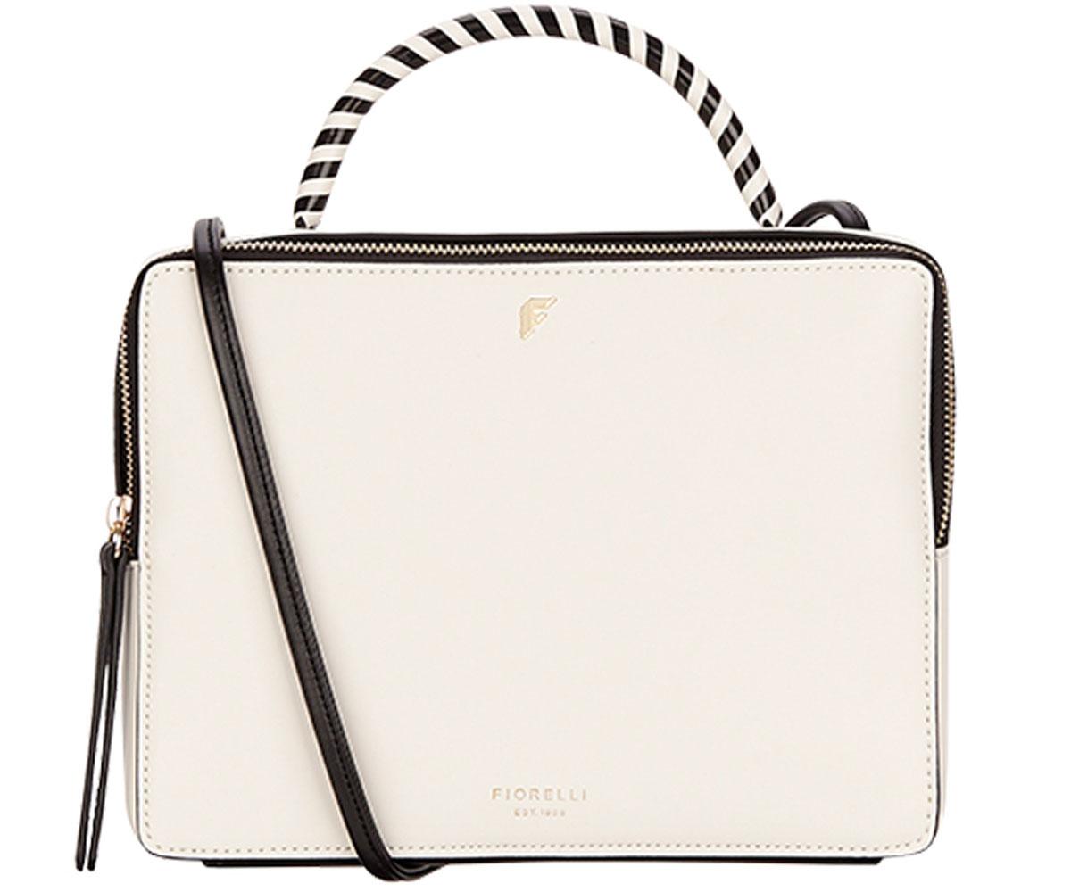 Сумка женская Fiorelli, цвет: белый, черный. 8666 FH MonoL39845800Элегантная женская сумка Fiorelli изготовлена из качественной искусственной кожи. Модель с одним отделением закрывается на застежку-молнию. Внутри имеются дополнительные карманы. Сумка оснащена двумя удобными ручками и плечевым ремнем, который можно регулировать по длине.