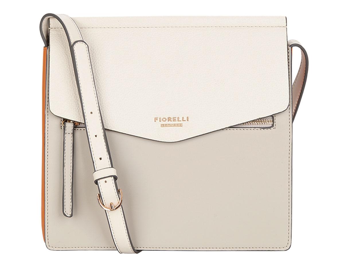 Сумка женская Fiorelli, цвет: серый, экрю. 8632 FH Misty GreyL39845800Элегантная женская сумка Fiorelli изготовлена из качественной искусственной кожи. Модель с тремя отделениями закрывается на клапан с магнитной кнопкой. На лицевой части расположен врезной карман на молнии. Сумка оснащена плечевым ремнем, который можно регулировать по длине.