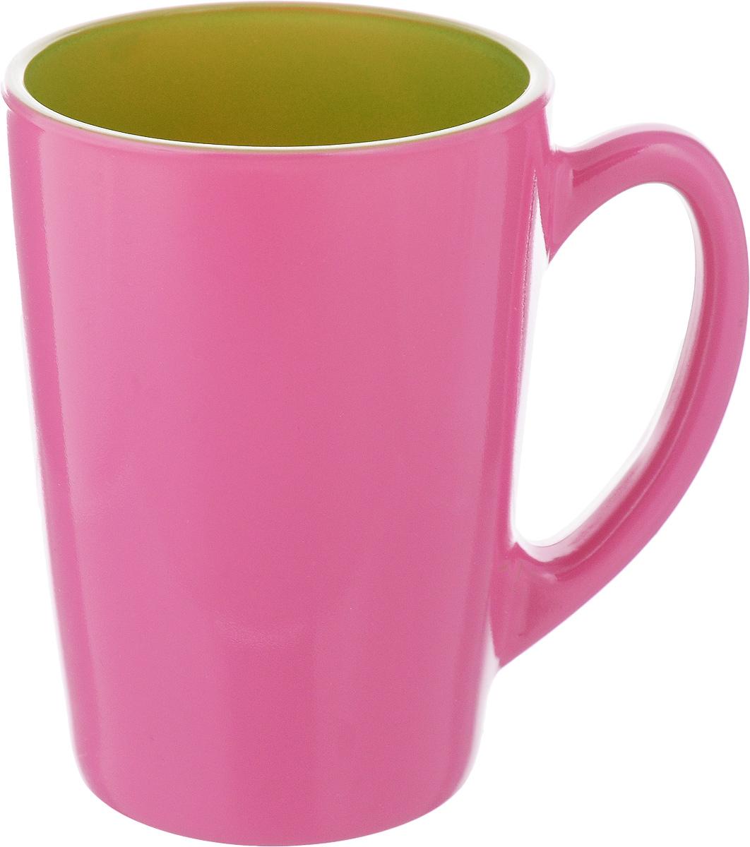 Кружка Luminarc Spring Break, цвет: малиновый, салатовый, 320 мл. J3417-1FS-91909Кружка Luminarc Spring Break, изготовленная из ударопрочного стекла, прекрасно подойдет для горячих и холодных напитков. Она дополнит коллекцию вашей кухонной посуды и будет служить долгие годы. Можно использовать в микроволновой печи и мыть в посудомоечной машине. Диаметр кружки (по верхнему краю): 8 см.Высота стенки кружки: 11 см.