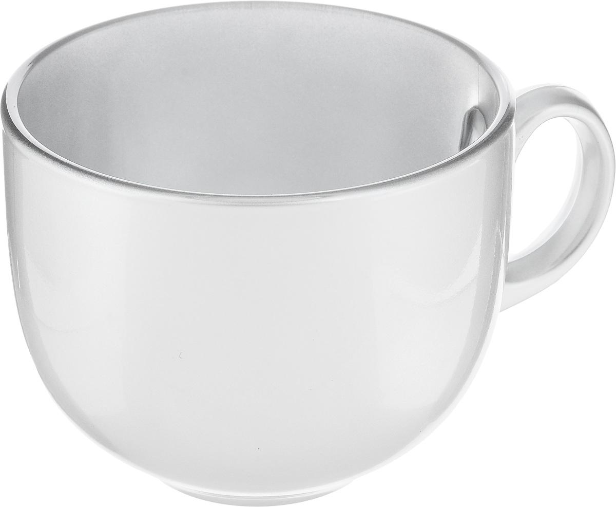 Бульонница Luminarc Flashy Colors, цвет: серебристый, 500 млJ1116Бульонница Luminarc Flashy Colors изготовлена из высококачественного стекла, оснащена эргономичной ручкой. Изделие дополнит коллекцию кухонной посуды и будет служить долгие годы. Можно мыть в посудомоечной машине и использовать в микроволновой печи. Диаметр (по верхнему краю): 10,5 см.Высота бульонницы: 9 см.