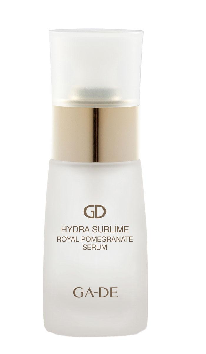 GA-DE Сыворотка для лица Hydra Sublime Royal Pomegranate, 30 млFS-00103Сыворотка ночного действия. В ее состав входит комплекс масел, масло покрывает кожу тонким защитным слоем, тем самым предотвращая потерю в ней воды. Стимулирует восстановление клеток кожи, разглаживает мелкие морщины, усиливает синтез коллагена, улучшает его качество, укрепляет каркас кожи. Возвращает коже упругость, превосходно смягчает и восстанавливает сияние кожи. Препятствует преждевременному старению кожи.