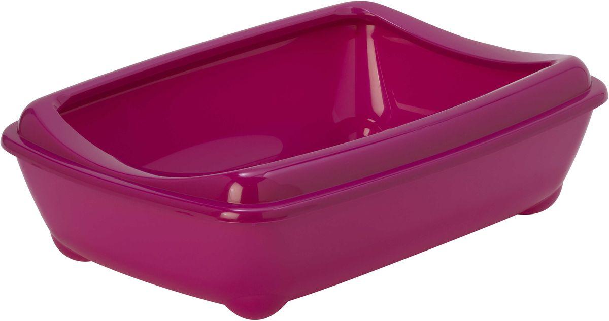 Туалет для кошек Moderna Arist-O-Tray, открытый, цвет: ярко-розовый, 31 х 42 х 13 см63017Туалет для кошек Moderna Arist-O-Tray изготовлен из высококачественного пластика. Высокий борт, прикрепленный по периметру лотка, удобно надевается и предотвращает разбрасывание наполнителя. Такой туалет не впитывает неприятные запахи и прекрасно отмывается.