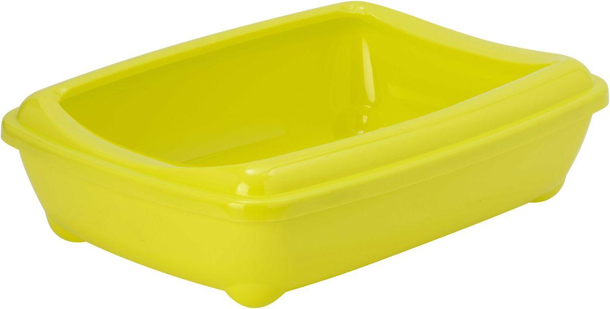 Туалет для кошек Moderna  Arist-O-Tray , открытый, цвет: лимонный, 38 х 50 х 14 см