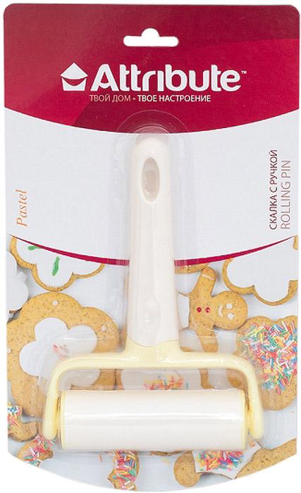 Скалка для теста Attribute Pastel, с ручкой, 10 см. ABP29168/5/2Скалка для теста Attribute Pastel станет неотъемлемом помощником любой хозяйки на кухне. Удобная ручка помогает держать скалку, чтобы лучше раскатывать тесто.