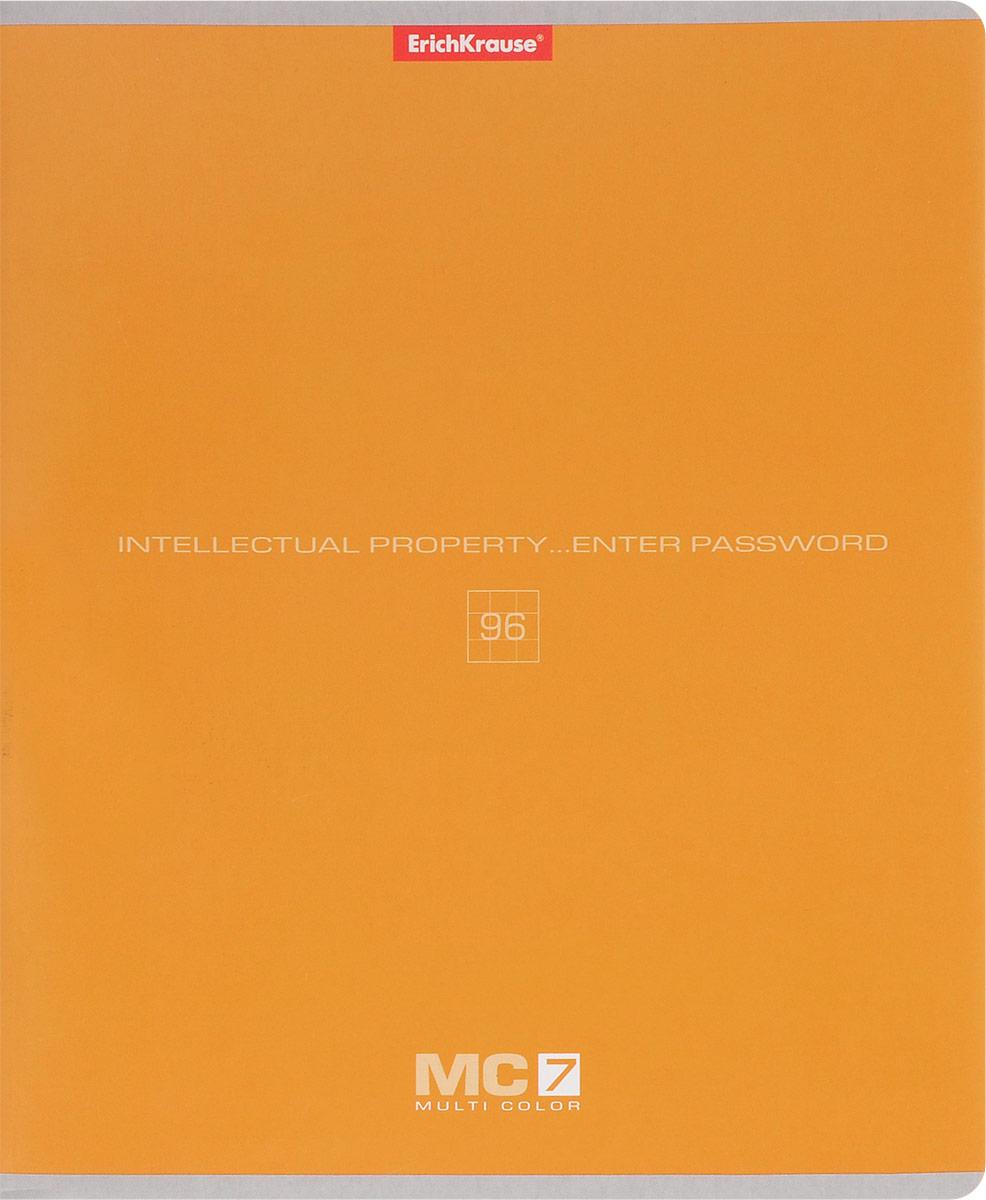 Полиграфика Тетрадь МС 7 96 листов в клетку цвет оранжевыйM-1560540N-4Тетрадь Полиграфика МС 7 подойдет как школьнику, так и студенту. Обложка тетради выполнена из картона. Внутренний блок состоит из 96 листов белой бумаги. Стандартная линовка в голубую клетку дополнена красными полями. Листы тетради соединены металлическими скобами.