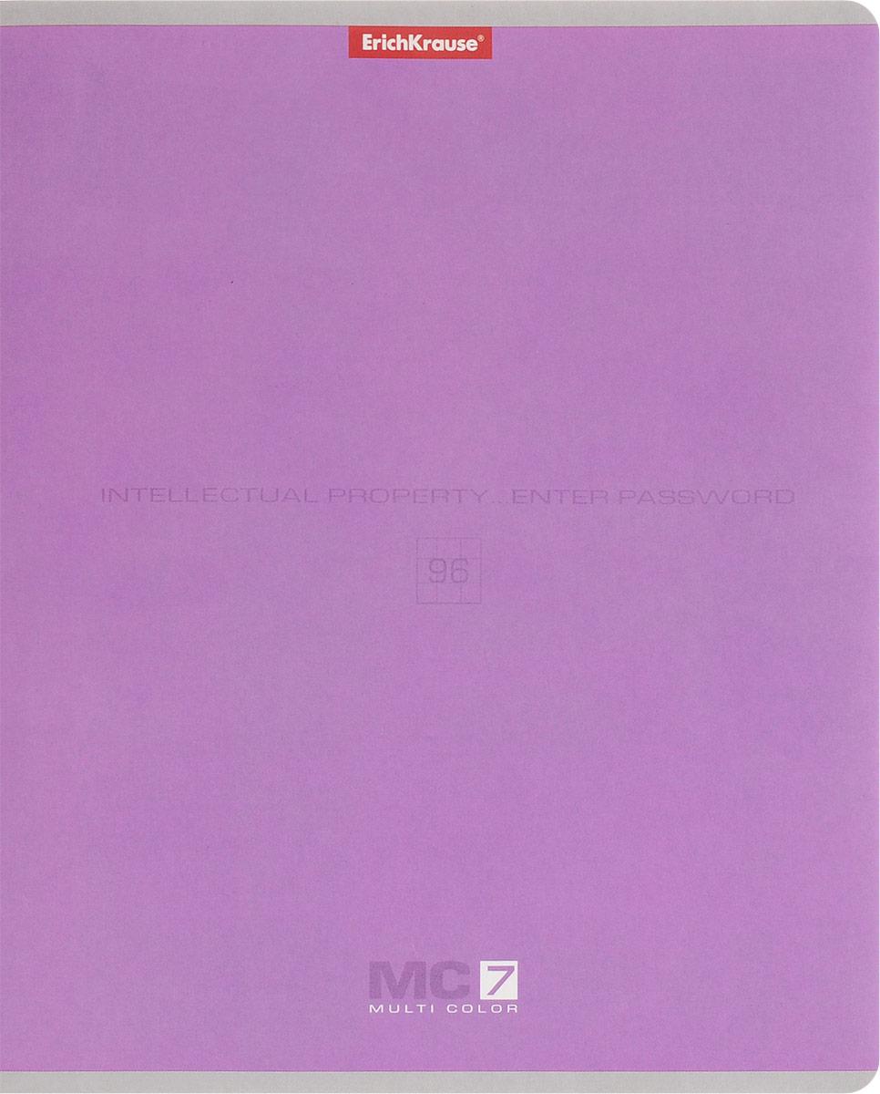 Полиграфика Тетрадь МС 7 96 листов в клетку цвет сиреневый2093163Тетрадь Полиграфика МС 7 подойдет как школьнику, так и студенту. Обложка тетради выполнена из картона. Внутренний блок состоит из 96 листов белой бумаги. Стандартная линовка в голубую клетку дополнена красными полями. Листы тетради соединены металлическими скобами.