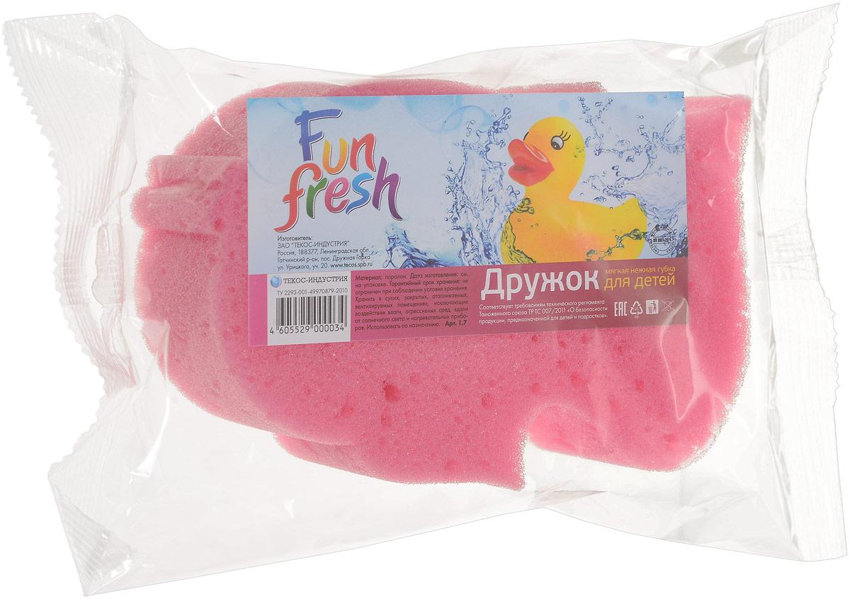 Губка для детской кожи Fun Fresh Дружок 14,5 х 10 х 4 см5010777139655Губка для детской кожи Fun Fresh Дружок 14,5 х 10 х 4 см