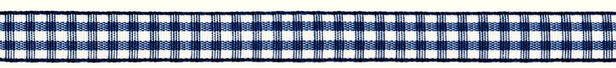 Лента декоративная Prym Клетка, цвет: белый, темно-синий, 10 мм, 4 м09840-20.000.00Лента для украшения, поделок, оформления и упаковки подарков