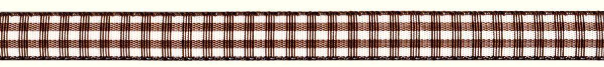 Лента декоративная Prym Клетка, цвет: белый, коричневый, 10 мм, 4 м09840-20.000.00Лента для украшения, поделок, оформления и упаковки подарков