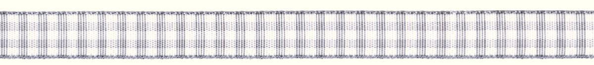 Лента декоративная Prym Клетка, цвет: белый, серый, 10 мм, 4 м19201Лента для украшения, поделок, оформления и упаковки подарков