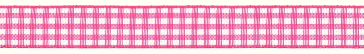 Лента декоративная Prym Клетка, цвет: белый, розовый, 15 мм, 3 мSS 4041Лента для украшения, поделок, оформления и упаковки подарков