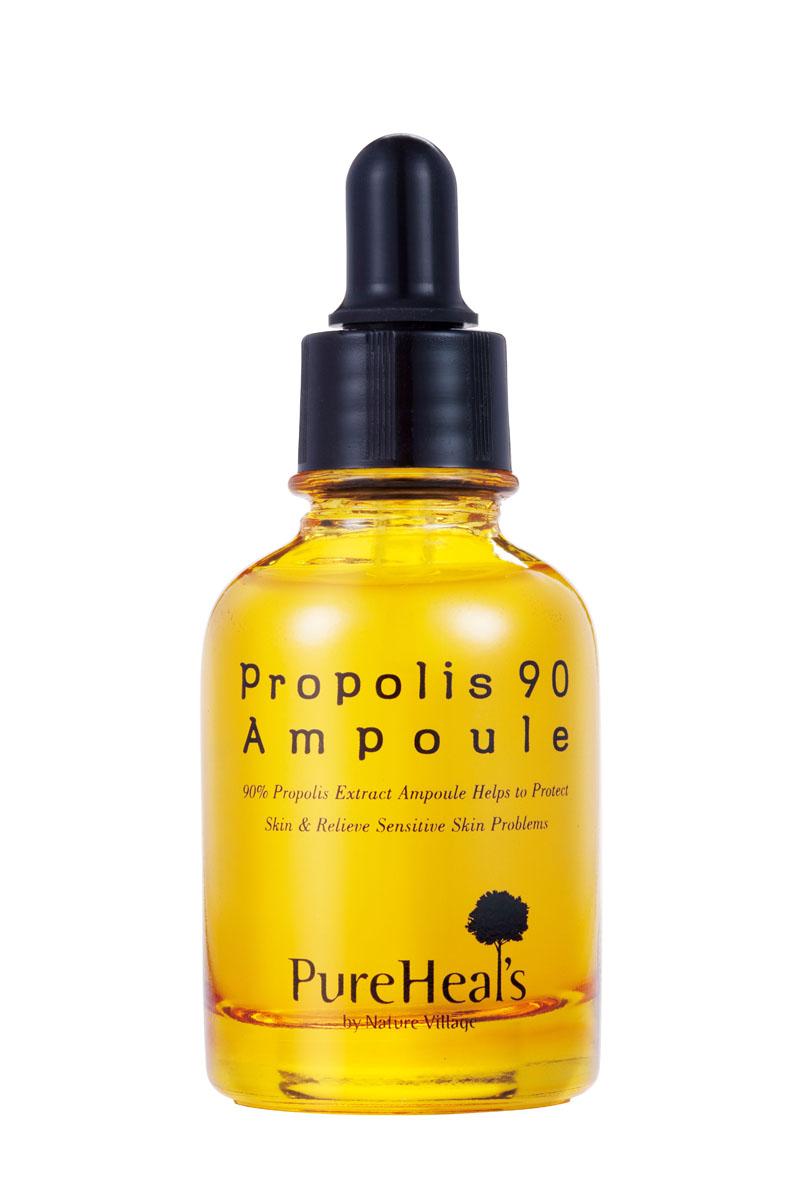 PurehealS Сыворотка с прополисом Propolis 90 Ampoule, 30 млFS-00897Увлажняющая линия разработанная для чувствительной кожи. Укрепляет и создает естественный щит благодаря натуральному прополису медоносной пчелы! Линия Propolis эффективно успокаивает кожу и защищает ее. Укрепляющая и успокаивающая сыворотка для обезвоженной и чувствительной кожи с экстрактом прополиса 90%. Увлажнение на 24 часа.
