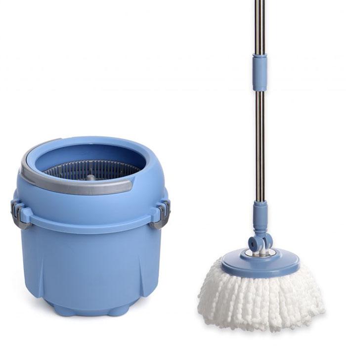Комплект для мытья полов TATAY Twister Compact, 8 л114120Комплект для мытья полов TWISTER COMPACT 8 л. Применение ведра со шваброй:Полоскание насадок:1. Соберите ведро и ручку, установите насадку в соответствии с инструкцией (входит в комплект).2. Наполните ведро водой до отметки максимального уровня воды.3. Поместите основу швабры с насадкой в середину центрифуги и нажмите на нее до щелчка.4. Поднимите швабру с центрифугой вверх, а затем опустите на дно ведра.5. Нажимайте на телескопическую ручку, чтобы промыть насадку.Отжим насадки:1. Поместите пластину в середину центрифуги и нажмите на нее до щелчка. Убедитесь, что весь ворс находится в центрифуге, иначе вода может попасть Вам на ноги или пол.2. Поднимите швабру с центрифугой вверх.3. Держите швабру вертикально и нажимайте на ручку, чтобы отжать насадку.4. Вытаскивайте швабру только после полной остановки центрифуги. Насадку можно стирать в стиральной машине.