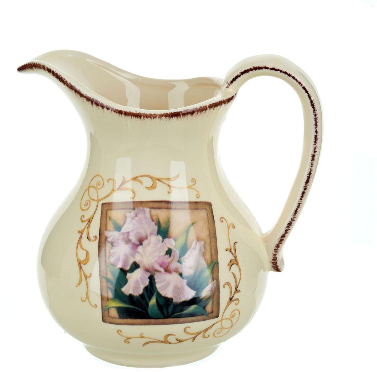 Кувшин ENS Group Розовый ирис, 1,28 лVT-1520(SR)Кувшин Розовый ирис изготовлен из высококачественной керамики, декорирован узорами и изображением ириса в рамке. Кувшин оснащен удобной ручкой. Прекрасно подходит для подачи воды, сока, компота и других напитков.В подарочной упаковке. Изящный кувшин красиво оформит стол и порадует вас элегантным дизайном и простотой ухода.