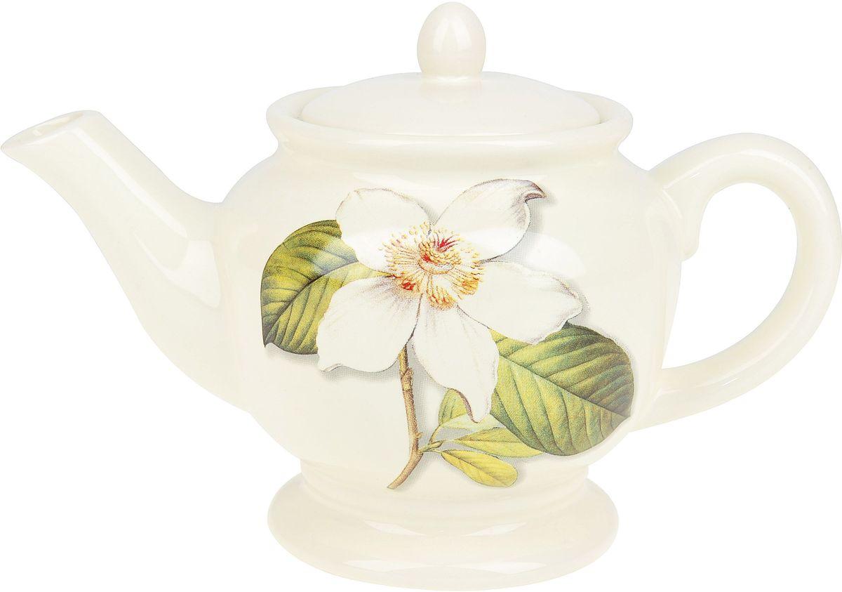 Чайник ENS Group Танго Магнолия, 900 млVT-1520(SR)Заварочный чайник Танго Магнолия изготовлен из высококачественного доломита. Изделие прекрасно подходит для заваривания вкусного и ароматного чая, а также травяных настоев. Отверстия в основании носика препятствуют попаданию чаинок в чашку. Нежный дизайн сделает чайник настоящим украшением стола.