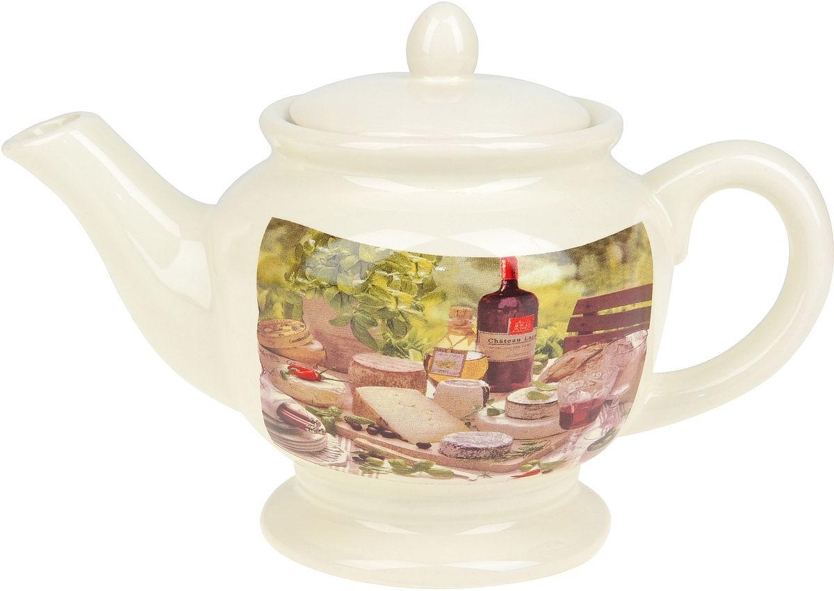 Чайник заварочный ENS Group Тоскана, 900 мл54 009312Заварочный чайник Тоскана изготовлен из высококачественного доломита. Изделие прекрасно подходит для заваривания вкусного и ароматного чая, а также травяных настоев. Отверстия в основании носика препятствуют попаданию чаинок в чашку. Красочный дизайн сделает чайник настоящим украшением стола.