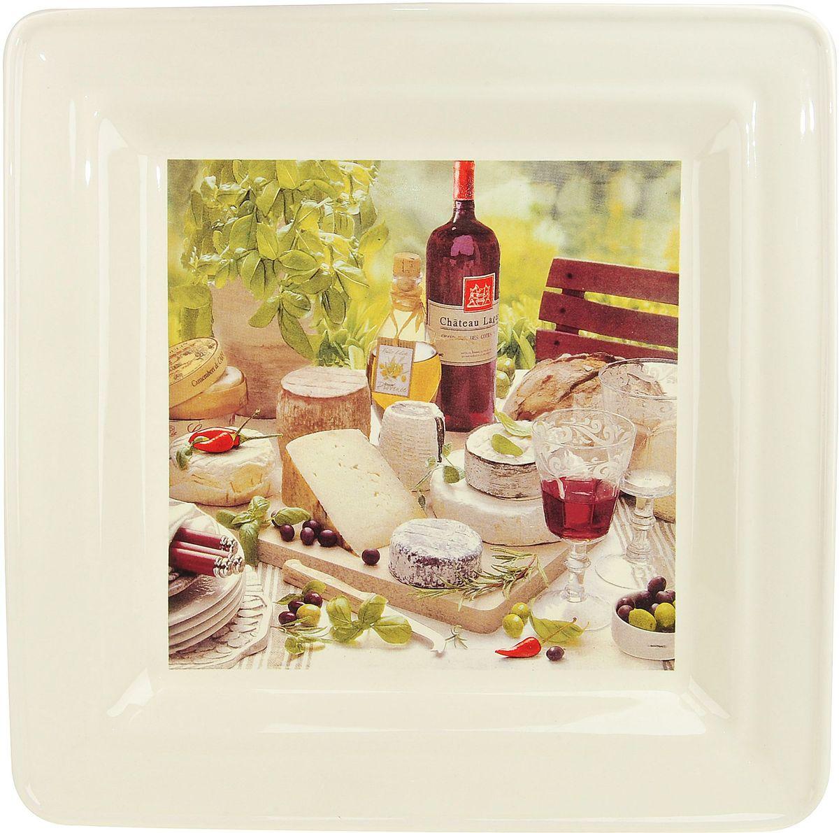Тарелка ENS Group Тоскана, квадратная, 29 х 29 смFS-91909Тарелка Тоскана, изготовленная из высококачественного доломита, предназначена для красивой подачи различных блюд. Изделие декорировано красочным рисунком и имеет изысканный внешний вид. Такая тарелка украсит сервировку стола и подчеркнет прекрасный вкус хозяйки.