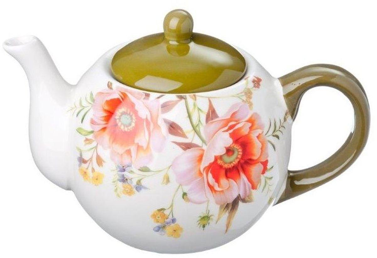 Чайник заварочный Vetta Весна, 580 мл115510Заварочный чайник Vetta Весна изготовлен из высококачественной керамики. Изделие прекрасно подходит для заваривания вкусного и ароматного чая, а также травяных настоев. Отверстия в основании носика препятствуют попаданию чаинок в чашку. Яркий дизайн сделает чайник настоящим украшением стола.