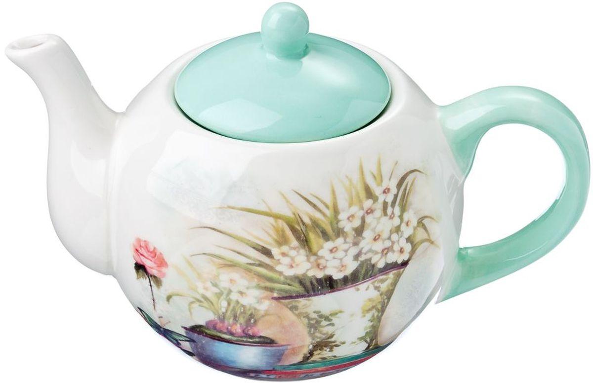 Чайник заварочный Vetta Парижский балкон, 580 мл115510Заварочный чайник Vetta Парижский балкон изготовлен из высококачественной керамики. Изделие прекрасно подходит для заваривания вкусного и ароматного чая, а также травяных настоев. Отверстия в основании носика препятствуют попаданию чаинок в чашку. Яркий дизайн сделает чайник настоящим украшением стола.