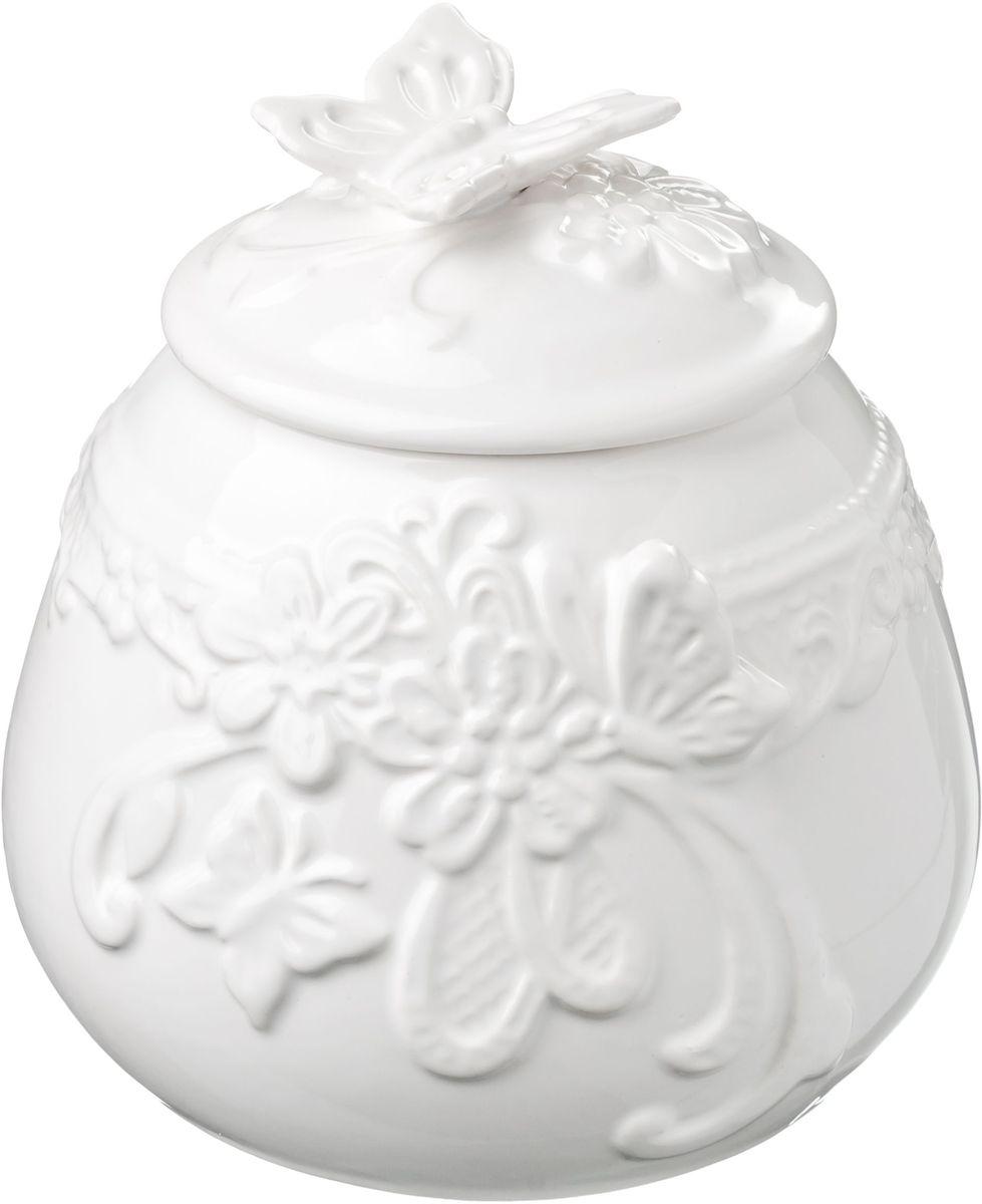 Сахарница Vetta Бабочка, 800 мл115510Сахарница с крышкой Бабочка, изготовленная из высококачественной керамики, доставит истинное удовольствие ценителям прекрасного. Сахарница и крышка украшена рельефным рисунком в виде узоров, бабочек и цветов. Оригинальность оформления придется по вкусу и ценителям классики, и тем, кто предпочитает утонченность и изысканность.