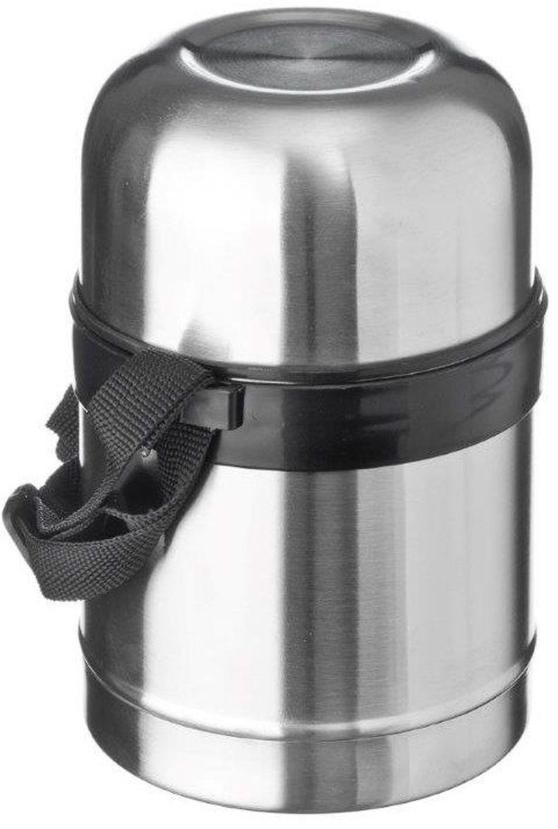 Термос Vetta Суповой, с широким горлом, цвет: серебристый, 500 мл417466Высокопрочный вакуумный термос Vetta Суповой изготовлен из высококачественной нержавеющей стали, прост в использовании и многофункционален. Изделие имеет двойные стенки, что позволяет содержимому долго оставаться горячим или холодным, и изолированную крышку. Съемный ремешок для переноски делает использование термоса легким и удобным. Термос сохраняет температуру горячих или холодных продуктов до 24 часов. Легкий и прочный термос Vetta идеально подойдет для транспортировки и путешествий.
