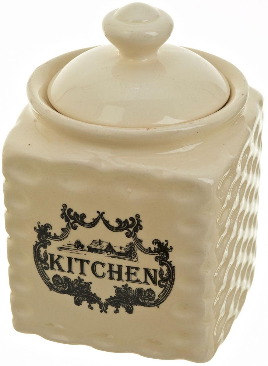 Банка для сыпучих продуктов Polystar Country Kitchen. Vintage, 750 мл21395560Банка для сыпучих продуктов Country Kitchen. Vintage изготовлена из прочной керамики, закрывается крышкой. Банка прекрасно подойдет для хранения различных сыпучих продуктов: чая, кофе, сахара, круп и многого другого. Изящная емкость не только поможет хранить разнообразные сыпучие продукты, но и стильно дополнит интерьер кухни.