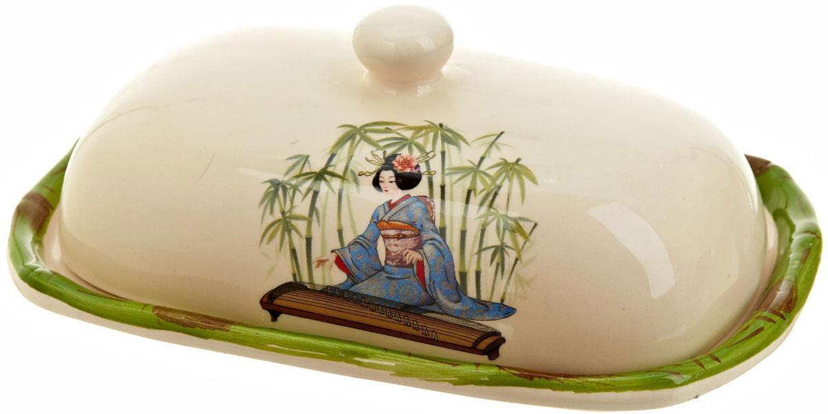 Масленка Polystar Harmony115510Масленка Harmony выполнена из высококачественной керамики в виде подноса с крышкой. Изделие оформлено оригинальным рисунком в японском стиле и имеет изысканный внешний вид. Масленка предназначена для красивой сервировки стола и хранения масла.
