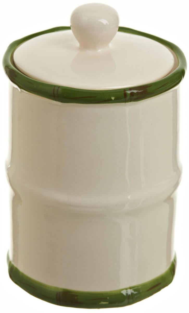 Банка для сыпучих продуктов Polystar Nature Design, 600 млАксион Т-33Банка для сыпучих продуктов Nature Design изготовлена из прочной керамики, закрывается крышкой. Изделие оригинальной формы в виде бамбука. Банка прекрасно подойдет для хранения различных сыпучих продуктов: чая, кофе, сахара, круп и многого другого. Изящная емкость не только поможет хранить разнообразные сыпучие продукты, но и стильно дополнит интерьер кухни.