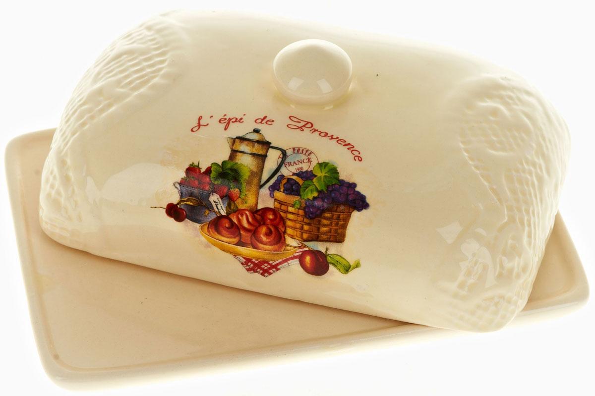 Масленка Polystar French breakfast115510Масленка French breakfast выполнена из высококачественной керамики в виде подноса с крышкой. Изделие оформлено оригинальным рисунком и имеет изысканный внешний вид. Масленка предназначена для красивой сервировки стола и хранения масла.