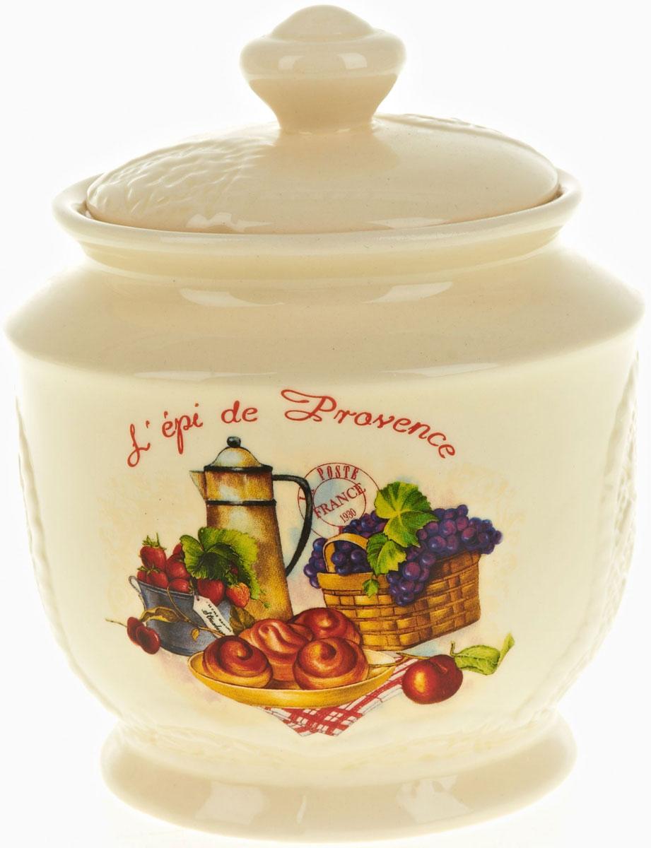 Банка для сыпучих продуктов Polystar French Breakfast, 720 мл21395599Банка для сыпучих продуктов French breakfast изготовлена из прочной керамики, закрывается крышкой. Банка оригинальной формы, прекрасно подойдет для хранения различных сыпучих продуктов: чая, кофе, сахара, круп и многого другого. Изящная емкость не только поможет хранить разнообразные сыпучие продукты, но и стильно дополнит интерьер кухни.