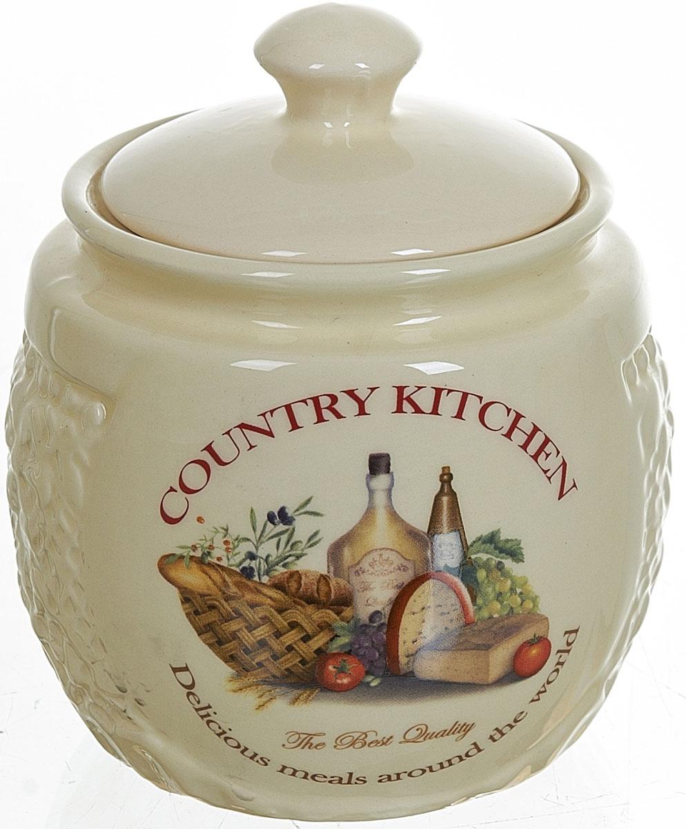 Сахарница Polystar Country Kitchen, 450 мл115510Сахарница Country Kitchen с крышкой изготовлена из высококачественной керамики и украшена уютным рисунком. Емкость универсальна, подойдет как для сахара, так и для специй или меда.