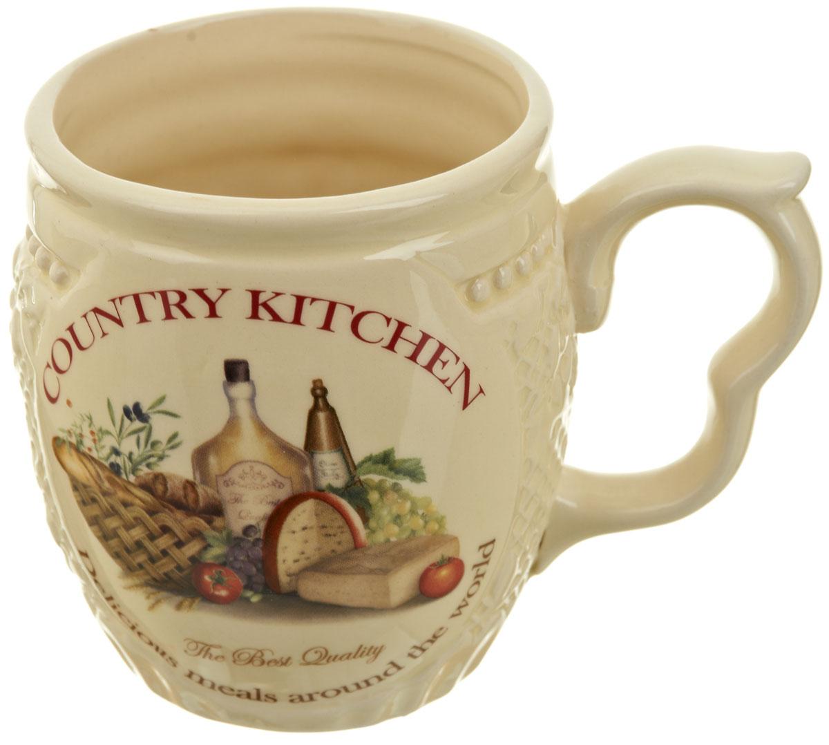 Кружка Polystar Country Kitchen, 480 мл115510Кружка Country Kitchen, выполненная из высококачественной керамики, декорирована оригинальным рисунком. Изделие оснащено изящной удобной ручкой. Кружка сочетает в себе оригинальный дизайн и функциональность. Благодаря такой кружке пить напитки будет еще вкуснее.