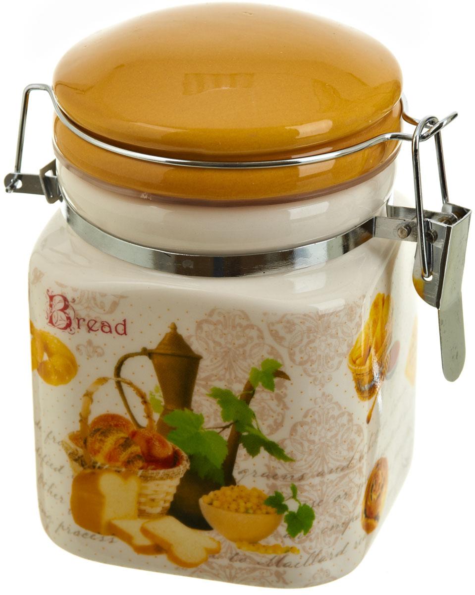 Банка для сыпучих продуктов Polystar Хлеб, 400 млVT-1520(SR)Банка для сыпучих продуктов Хлеб изготовлена из прочной керамики, закрывается крышкой. Банка прекрасно подойдет для хранения различных сыпучих продуктов: чая, кофе, сахара, круп и многого другого. Благодаря силиконовой прослойке и бугельному замку, крышка герметично закрывается, что позволяет дольше сохранять продукты свежими. Изящная емкость не только поможет хранить разнообразные сыпучие продукты, но и стильно дополнит интерьер кухни.