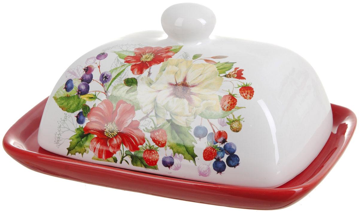 Масленка Polystar Summer115510Масленка Summer выполнена из высококачественной керамики в виде подноса с крышкой. Изделие оформлено красочным цветочным рисунком и имеет изысканный внешний вид. Масленка предназначена для красивой сервировки стола и хранения масла.
