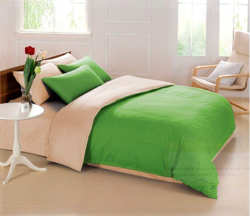 Комплект белья Sleep iX Perfection, 2-спальный, наволочки 70х70, цвет: зеленый, бежевый. pva2153704630003364517Комплект белья Sleep iX Perfection выполнен из микрофреша (100% микрофибра). Микрофреш - это легкая, нежная и неприхотливая в уходе ткань.Комплект белья Sleep iX Perfection станет прекрасным подарком для родных и близких, отлично впишется в любой интерьер спальни.Размер пододеяльника: 180 х 220 см.Тип застежки на пододеяльнике: молния (100 см).Размер простыни: 220 х 240 см.Размер наволочек: 70 х 70 см (2 шт).