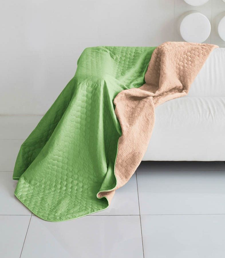 Комплект для спальни Sleep iX Multi Set, 2-спальный, цвет: салатовый, темно-бежевый, 4 предмета. pva221531U210DFКомплект для спальни Sleep iX Multi Set состоит из покрывала, простыни, 2 наволочек. Верх многофункционального одеяла-покрывала выполнен из мягкой микрофибры, которая хорошо сохраняет тепло, устойчива к стирке и износу, а низ выполнен изискусственного меха. Этот мех не требует специального ухода, он легко чистится и долгое время сохраняет мягкость и внешний вид. Наволочки, простыня и чехлы подушек выполнены из микрофибры. Комплект для спальни Sleep iX Multi Set - это прекрасный способ придать спальне уют и привнести в интерьер что-то новое.Размер одеяла-покрывала: 180 х 220 см.Размер простыни: 230 х 240 см.Размер наволочек: 50 х 70 см. (2 шт)Наполнитель: Силиконизированное волокно.