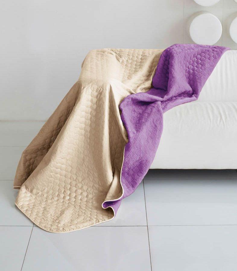 Комплект для спальни Sleep iX Multi Set, 2-спальный, цвет: бежевый, фиолетовый, 4 предмета. pva221538ES-412Комплект для спальни Sleep iX Multi Set состоит из покрывала, простыни, 2 наволочек. Верх многофункционального одеяла-покрывала выполнен из мягкой микрофибры, которая хорошо сохраняет тепло, устойчива к стирке и износу, а низ выполнен изискусственного меха. Этот мех не требует специального ухода, он легко чистится и долгое время сохраняет мягкость и внешний вид. Наволочки, простыня и чехлы подушек выполнены из микрофибры. Комплект для спальни Sleep iX Multi Set - это прекрасный способ придать спальне уют и привнести в интерьер что-то новое.Размер одеяла-покрывала: 180 х 220 см.Размер простыни: 230 х 240 см.Размер наволочек: 50 х 70 см. (2 шт)Наполнитель: Силиконизированное волокно.