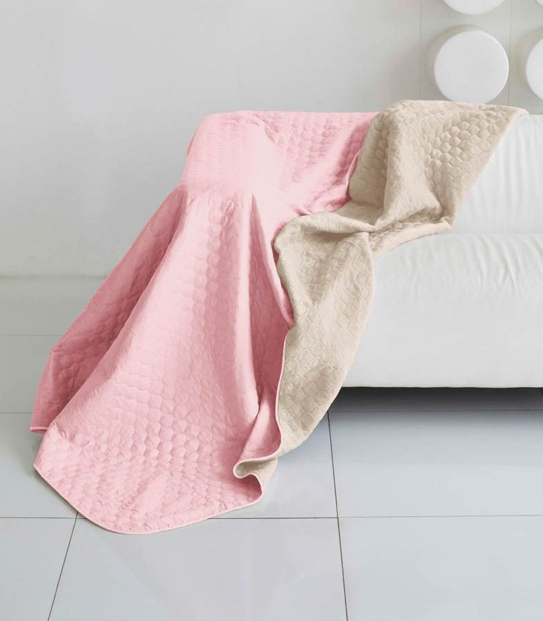 Комплект для спальни Sleep iX Multi Set, евро, цвет: розовый, молочно-серый, 4 предмета. pva221552ES-412Комплект для спальни Sleep iX Multi Set состоит из покрывала, простыни, 2 наволочек. Верх многофункционального одеяла-покрывала выполнен из мягкой микрофибры, которая хорошо сохраняет тепло, устойчива к стирке и износу, а низ выполнен изискусственного меха. Этот мех не требует специального ухода, он легко чистится и долгое время сохраняет мягкость и внешний вид. Наволочки, простыня и чехлы подушек выполнены из микрофибры. Комплект для спальни Sleep iX Multi Set - это прекрасный способ придать спальне уют и привнести в интерьер что-то новое.Размер одеяла-покрывала: 200 х 220 см.Размер простыни: 230 х 240 см.Размер наволочек: 50 х 70 см. (2 шт)Наполнитель: Силиконизированное волокно.
