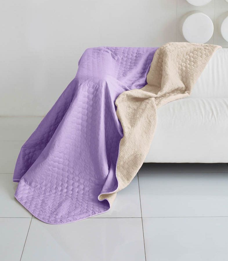 Комплект для спальни Sleep iX Multi Set, 2-спальный, цвет: фиолетовый, молочно-серый, 6 предметов. pva221605S03301004Комплект для спальни Sleep iX Multi Set состоит из покрывала, простыни, 2 наволочек и 2 подушек. Верх многофункционального одеяла-покрывала выполнен из мягкой микрофибры, которая хорошо сохраняет тепло, устойчива к стирке и износу, а низ выполнен изискусственного меха. Этот мех не требует специального ухода, он легко чистится и долгое время сохраняет мягкость и внешний вид. Наволочки, простыня и чехлы подушек выполнены из микрофибры. Комплект для спальни Sleep iX Multi Set - это прекрасный способ придать спальне уют и привнести в интерьер что-то новое.Размер одеяла-покрывала: 180 х 220 см.Размер простыни: 230 х 240 см.Размер наволочек: 50 х 70 см. (2 шт)Размер подушек: 50 х 68 см. (2 шт)Наполнитель: Силиконизированное волокно.