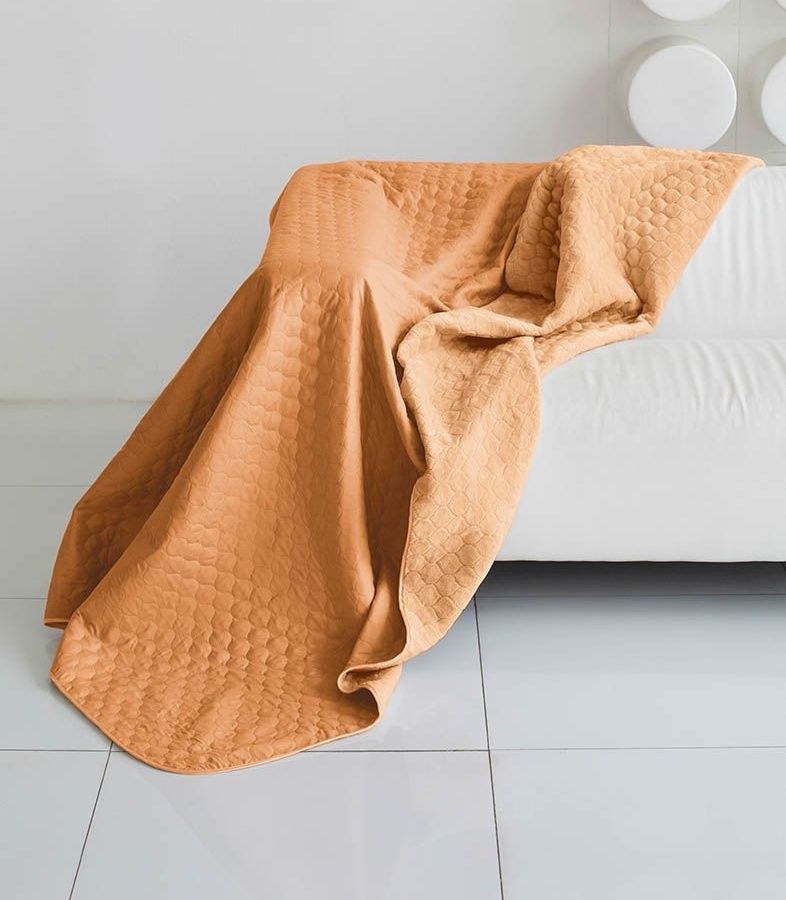 Комплект для спальни Sleep iX Multi Set, 2-спальный, цвет: оранжевый, рыжий, 6 предметов. pva221608ES-412Комплект для спальни Sleep iX Multi Set состоит из покрывала, простыни, 2 наволочек и 2 подушек. Верх многофункционального одеяла-покрывала выполнен из мягкой микрофибры, которая хорошо сохраняет тепло, устойчива к стирке и износу, а низ выполнен изискусственного меха. Этот мех не требует специального ухода, он легко чистится и долгое время сохраняет мягкость и внешний вид. Наволочки, простыня и чехлы подушек выполнены из микрофибры. Комплект для спальни Sleep iX Multi Set - это прекрасный способ придать спальне уют и привнести в интерьер что-то новое.Размер одеяла-покрывала: 180 х 220 см.Размер простыни: 230 х 240 см.Размер наволочек: 50 х 70 см. (2 шт)Размер подушек: 50 х 68 см. (2 шт)Наполнитель: Силиконизированное волокно.