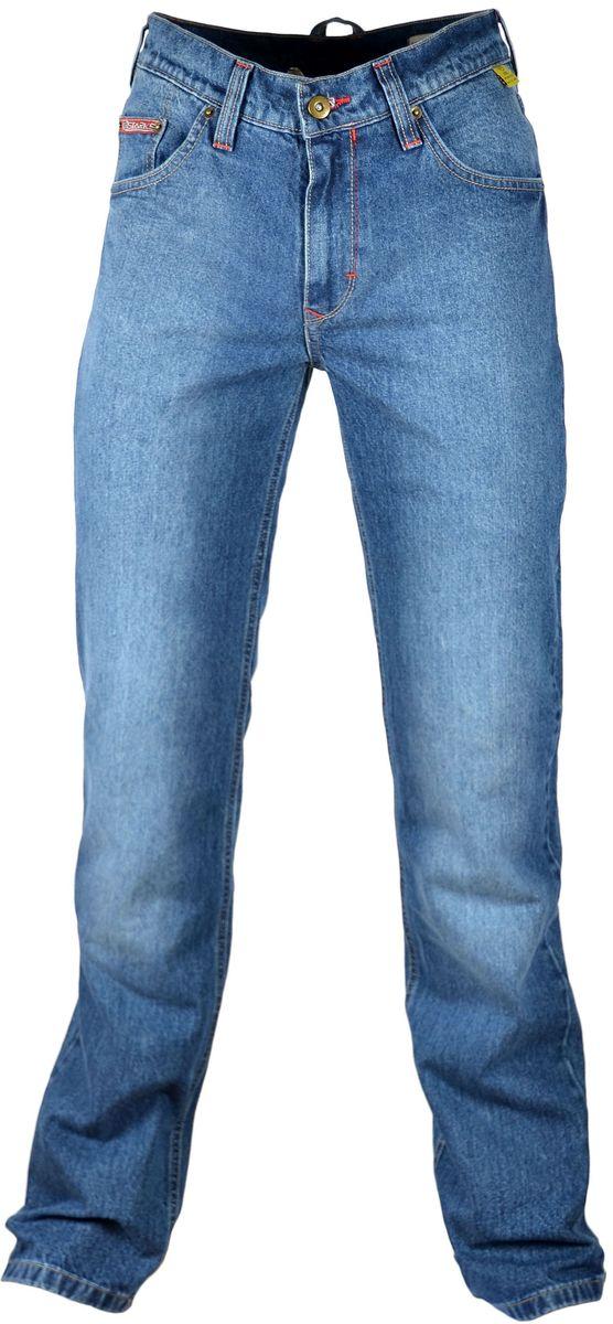 Мотоджинсы Starks Turtle, цвет: синий. Размер 30KGB GX-3Мотоджинсы STARKS – безупречное сочетание качества, комфорта и безопасности.Особенностью кроя мотоджинсов STARKS является полностью гражданский вид: отсутствие дополнительных швов, строчек и других элементов, которые обычно присутствуют на джинсах для мотоциклистов. Такой внешний, ничем не выдающий высококачественную защитную мотоэкипировку, позволит вам не беспокоиться о сменной одежде при поездках на работу или в путешествиях. Джинсы для мотоциклов STARKS выполнены из плотной джинсовой ткани и прошиты армированной нитью.Уникальная комбинированная подкладка: Арамидная ткань и ткань COOLMAXАрамид (полный аналог кевлара) используется в части подкладки джинсов STARKS и защищает от трения, порезов и ожогов при падении и скольжении основные зоны нижней части тела : ягодицы, бедренные кости, наружные части ног справа и слева, коленные суставы. COOLMAX используется как часть комбинированной подкладки мотоджинсов в неуязвимых местах. Также из этого материала изготовлены карманы для защитных коленных вставок. Использование этого материала обеспечивает отведение влаги, воздухопроницаемость, охлаждение и полный комфорт для нижней части даже в очень жаркую погоду. При этом материал не вызывает аллергических реакций. Защиту от ударов в области коленей обеспечивают вставки английской компании KNOX, выполненные из новейшего материала MICRO-LOCK и сертифицированные по стандарту безопасности EN1621-2 (CE).Мотоджинсы STARKS изготовлены с запасом длины штанин, что позволяет избежать эффекта коротких штанов при посадке на мотоцикле с согнутым коленом и рассчитаны на рост до 192 см.Регулировка коленных вставок по высоте (до 12 см) и возможность подвернуть/подшить штанины позволяет использовать мото джинсы для мотоциклистов разного роста: от 164 см до 192 см. Джинсы оснащены карманами для защитных вставок тазобедренных суставов (бедер). Вставки для бедер в комплект не входят. Вы можете приобрести их отдельно. Рекомендуем использова