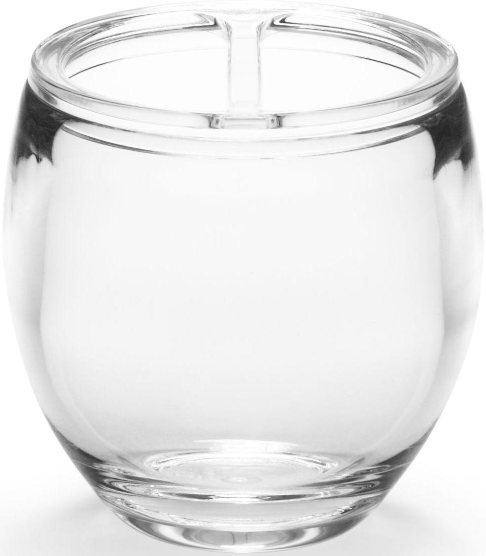 Стакан для зубных щеток Umbra Droplet, цвет: прозрачный, 10 х 9 х 9 см74-0120Функциональность подставки для зубных щеток неоспорима - где же еще их хранить. А вот как насчет дизайна? В Umbra уверены: такой простой и ежедневно используемый предмет должен выглядеть лаконично, но необычно. Ведь в небольшой ванной комнате не должно быть ничего вызывающе яркого. Немного экспериментировав с формой, дизайнеры создали подставку Droplet которая придется кстати в любом доме и вместит зубные щетки всех членов семьи.