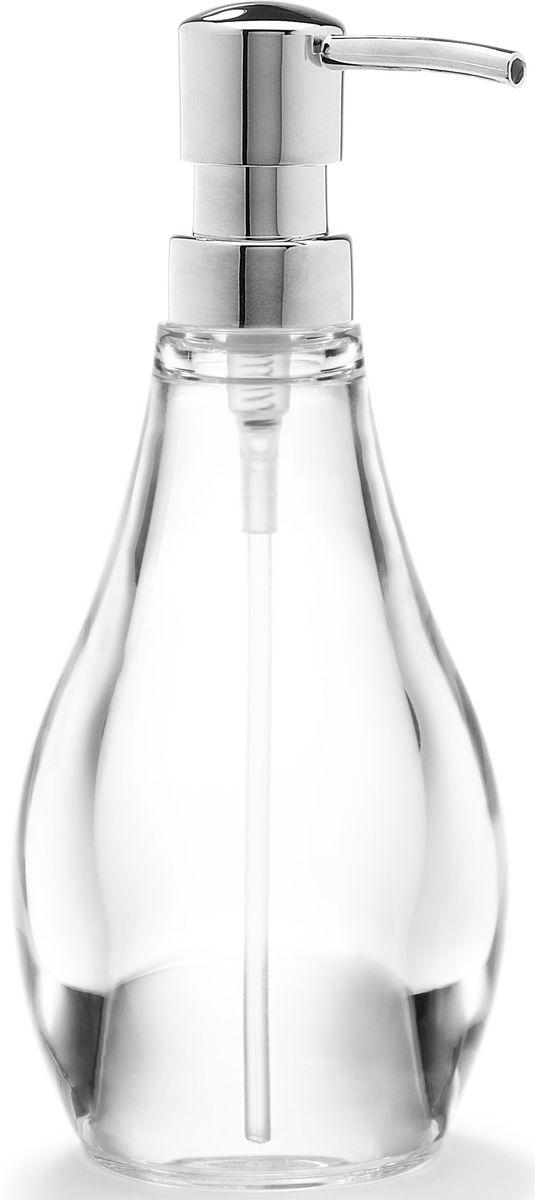 Диспенсер для мыла Umbra Droplet, цвет: прозрачный, 19 х 9 х 9 см10503Мыло душистое, полотенце пушистое - если мыть руки, то с этим слоганом. Потому что приятно пахнущее мыло, например, ванильное или земляничное, поднимает настроение. А если оно внутри красивого диспенсера, который поможет отмерить нужное количество, это вдвойне приятно. Те, кто покупает жидкое мыло, знают, что очень часто оно продается в некрасивых упаковках или очень больших бутылках, которые совершенно неудобно ставить на раковину. Проблема решена вот с таким лаконичным симпатичным диспенсером. Теперь вы не забудете вымыть руки перед едой! А благодаря прозрачным стенкам, всегда видно, когда стоит пополнить резервуар. P.S. (Важная подсказка): диспенсер также можно использовать на кухне для моющего средства, получается очень экономно.
