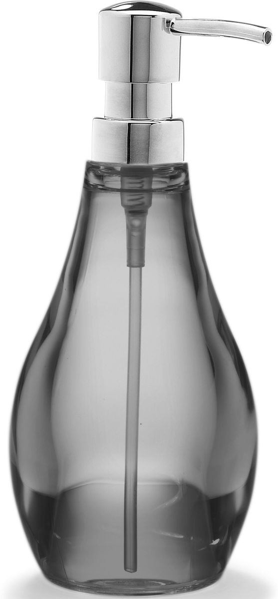 Диспенсер для мыла Umbra Droplet, цвет: дымчатый, 9,5 х 9,5 х 21 смRG-D31SСерию аксессуаров для ванной Droplet характеризуют плавные линии, прозрачные материалы и мягкие цвета. Благодаря современным технологиям, аксессуары выглядят как стеклянные, но при этом прочные и небъющиеся. Такой элегантный диспенсер для мыла из прозрачного акрила станет достойным украшением раковины в любой ванной комнате. Аксессуар также подойдет для кухни в качестве диспенсера для моющего средства. Дизайн: Michelle Ivankovic