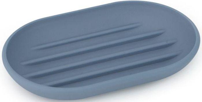 Мыльница Umbra Touch, цвет: дымчато-синий, 2,2 х 9 х 14 см531-105Лаконичная и простая мыльница, изготовленная из приятного на ощупь пластика. Нескользящее основание. Благодаря специальным желобкам на донышке мыло быстро высыхает и не прилипает к поверхности. Дизайн: Alan Wisniewski