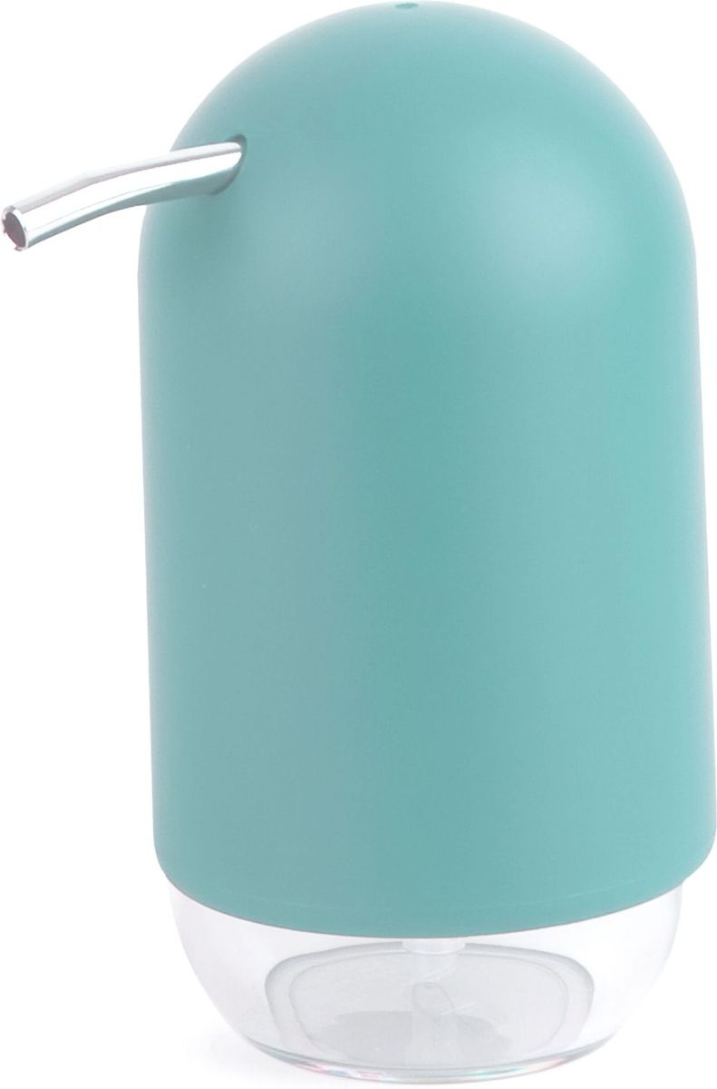 Диспенсер для мыла Umbra Touch, цвет: морская волна, 14 х 7 х 7 см68/5/4Мыло душистое, полотенце пушистое - если мыть руки, то с этим слоганом. Потому что приятно пахнущее мыло, например, ванильное или земляничное, поднимает настроение. А если оно внутри красивого диспенсера, который поможет отмерить нужное количество, это вдвойне приятно. Те, кто покупает жидкое мыло, знают, что очень часто оно продается в некрасивых упаковках или очень больших бутылках, которые совершенно неудобно ставить на раковину. Проблема решена вот с таким лаконичным симпатичным диспенсером. Теперь вы не забудете вымыть руки перед едой! Обратите внимание на прозрачную нижнюю часть: благодаря ей вы сразу увидите, если мыло кончается, и сможете пополнить резервуар. Объем - 235 мл.P.S. (Важная подсказка): диспенсер также можно использовать на кухне для моющего средства, получается очень экономно.