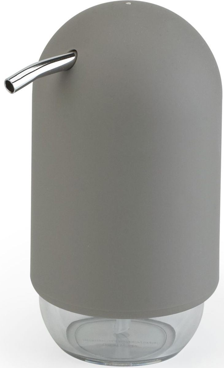 Диспенсер для мыла Umbra Touch, цвет: серый, 14 х 7 х 7 см023273-918Мыло душистое, полотенце пушистое - если мыть руки, то с этим слоганом. Потому что приятно пахнущее мыло, например, ванильное или земляничное, поднимает настроение. А если оно внутри красивого диспенсера, который поможет отмерить нужное количество, это вдвойне приятно. Те, кто покупает жидкое мыло, знают, что очень часто оно продается в некрасивых упаковках или очень больших бутылках, которые совершенно неудобно ставить на раковину. Проблема решена вот с таким лаконичным симпатичным диспенсером. Теперь вы не забудете вымыть руки перед едой! Обратите внимание на прозрачную нижнюю часть: благодаря ей вы сразу увидите, если мыло кончается, и сможете пополнить резервуар. Объем - 235 мл.P.S. (Важная подсказка): диспенсер также можно использовать на кухне для моющего средства, получается очень экономно.