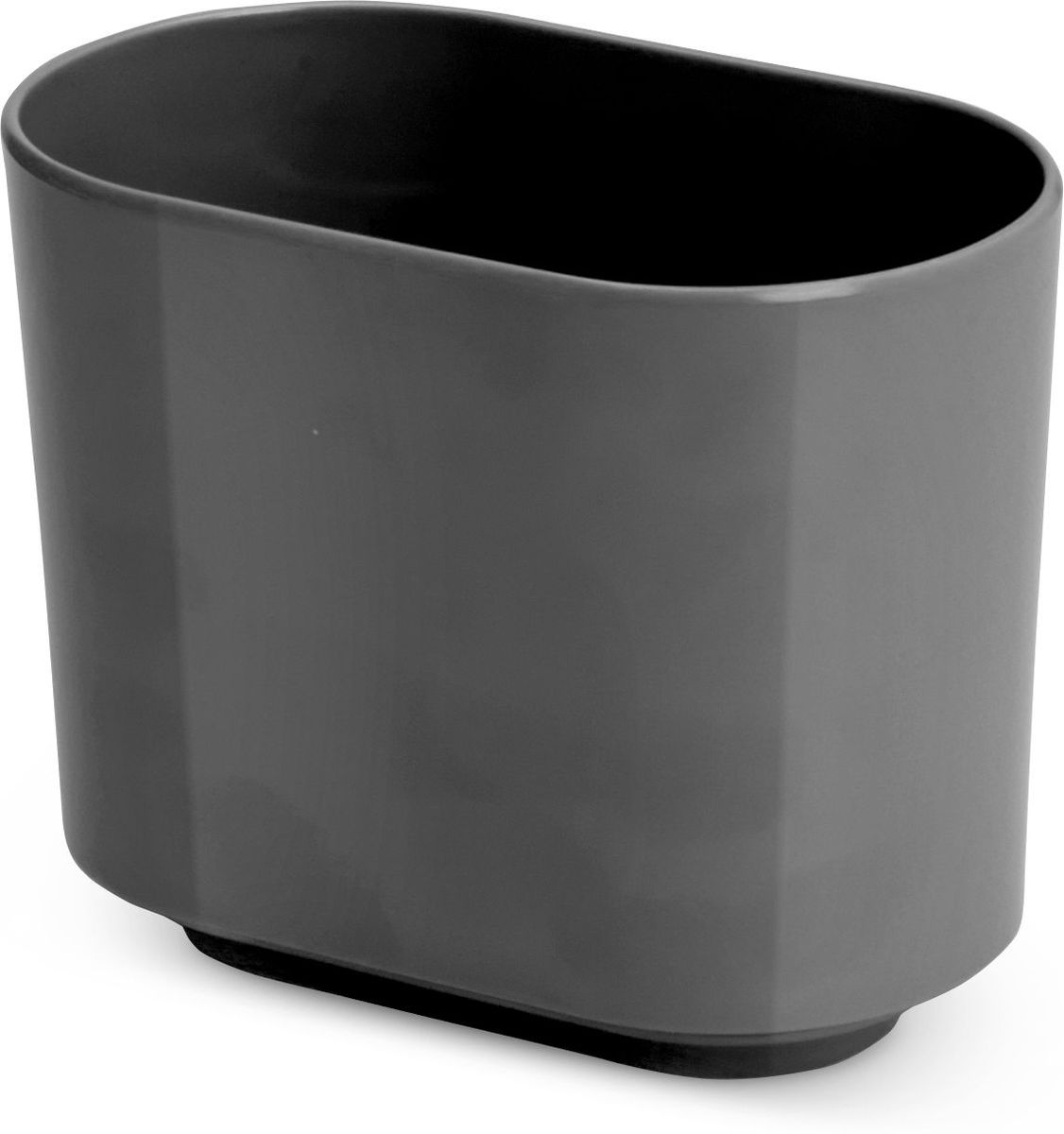 Стакан для зубных щеток Umbra Step, цвет: темно-серый, 7,5 х 10 х 12,5 см25051 7_зеленыйStep – коллекция минималистичных и функциональных предметов, изготовленных из меламина. Вместительная подставка послужит для хранения зубных щеток всех членов семьи.Дизайн: Tom Chung